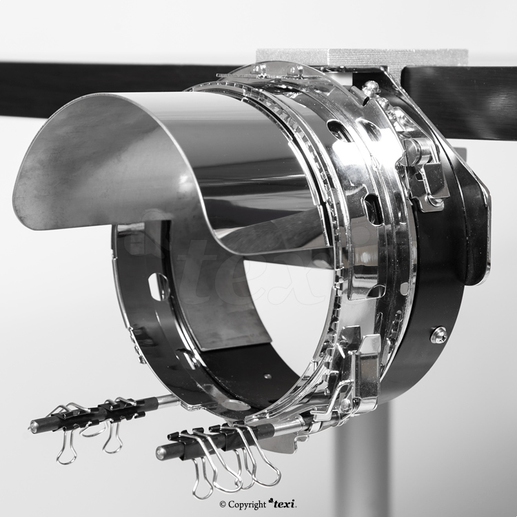 Equipment for embroidering on cap