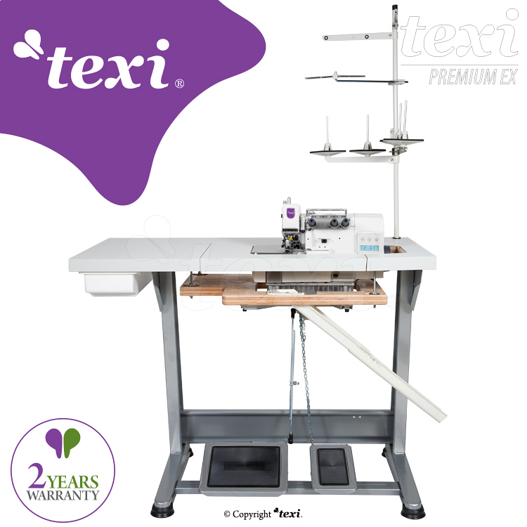 3-threads mechatronic overlock machine with needles positioning - complete sewing machine with 2 years warranty