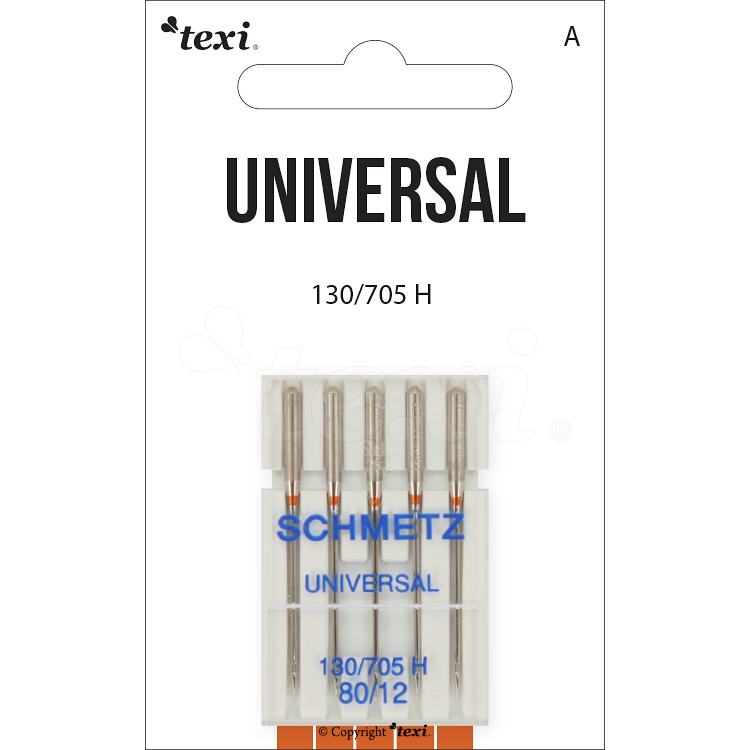 Universal needles for household machines, 5 pcs, size 80