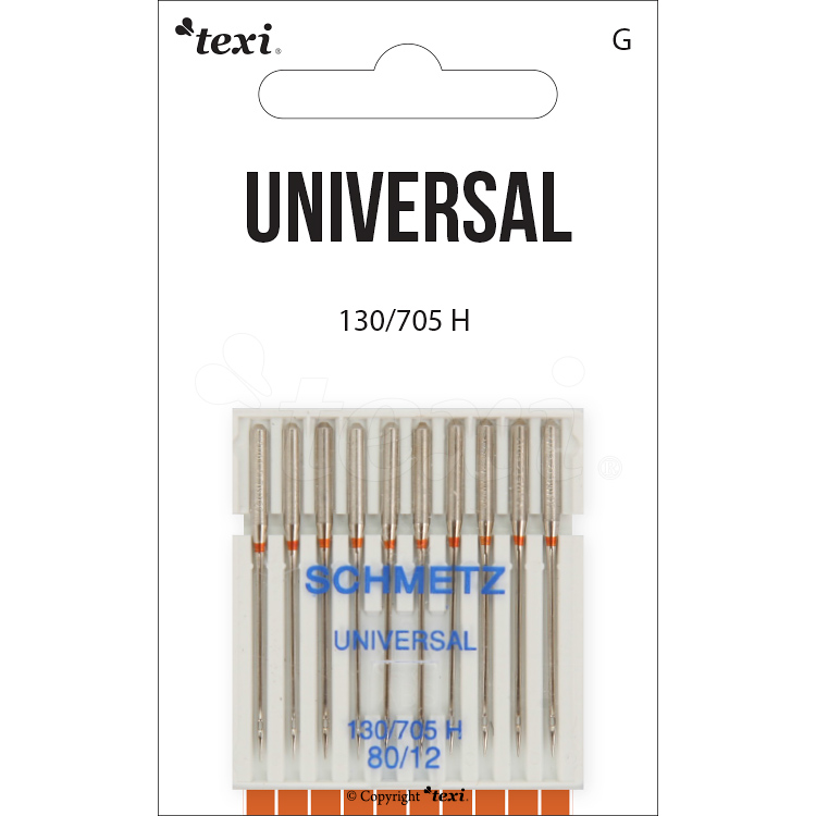 Universal needles for household machines, 10 pcs, size 80