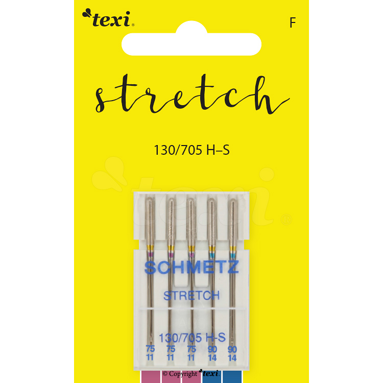 Stretch needles for household machines, 5 pcs, size 75x3, 90x2