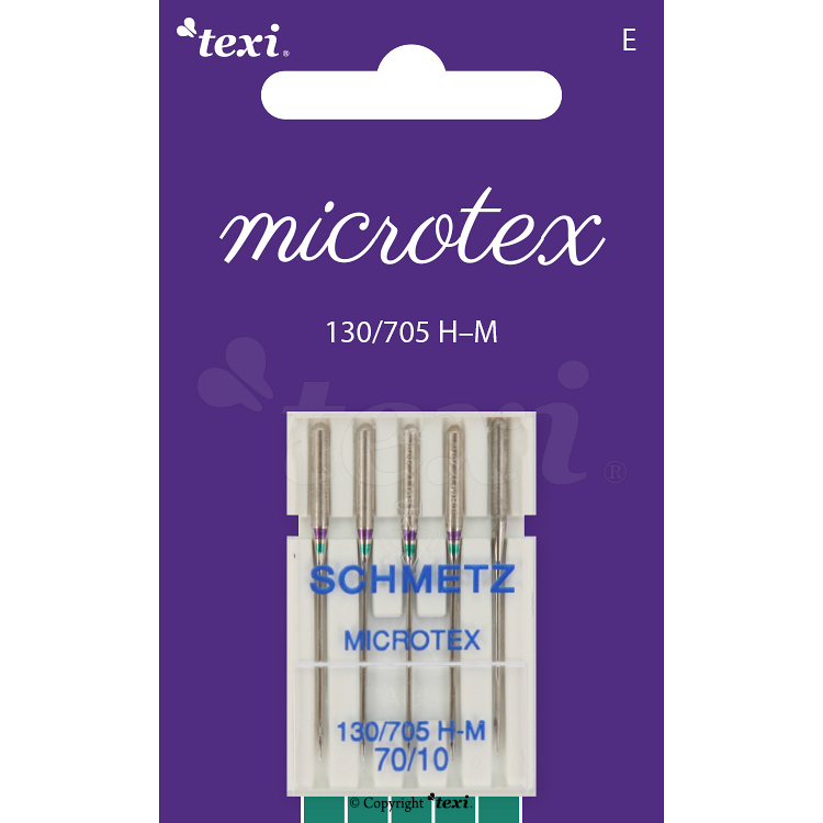 Microtex needles for household machines, 5 pcs, size 70
