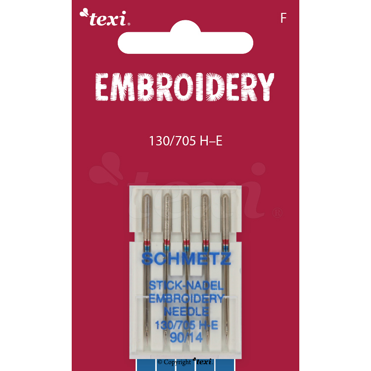 Embroidery needles for household machines, 5 pcs, size 90