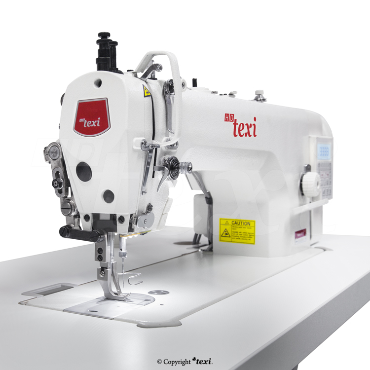 Upholstery and leather lockstitch machine with built-in Servo motor and control box (Mechatronic), bottom feed and walking foot, large hook - complete machine